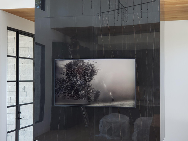 Modern Fireplace With Frame TV.jpg