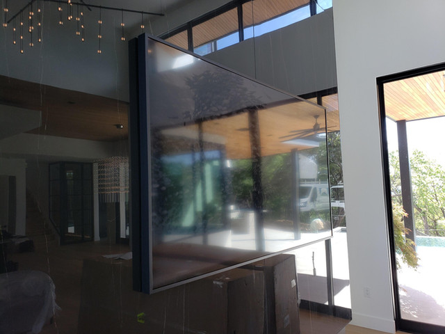 Modern Fireplace With Frame TV #2.jpg