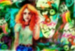Meisje in Melbournegraffitiklein.jpg