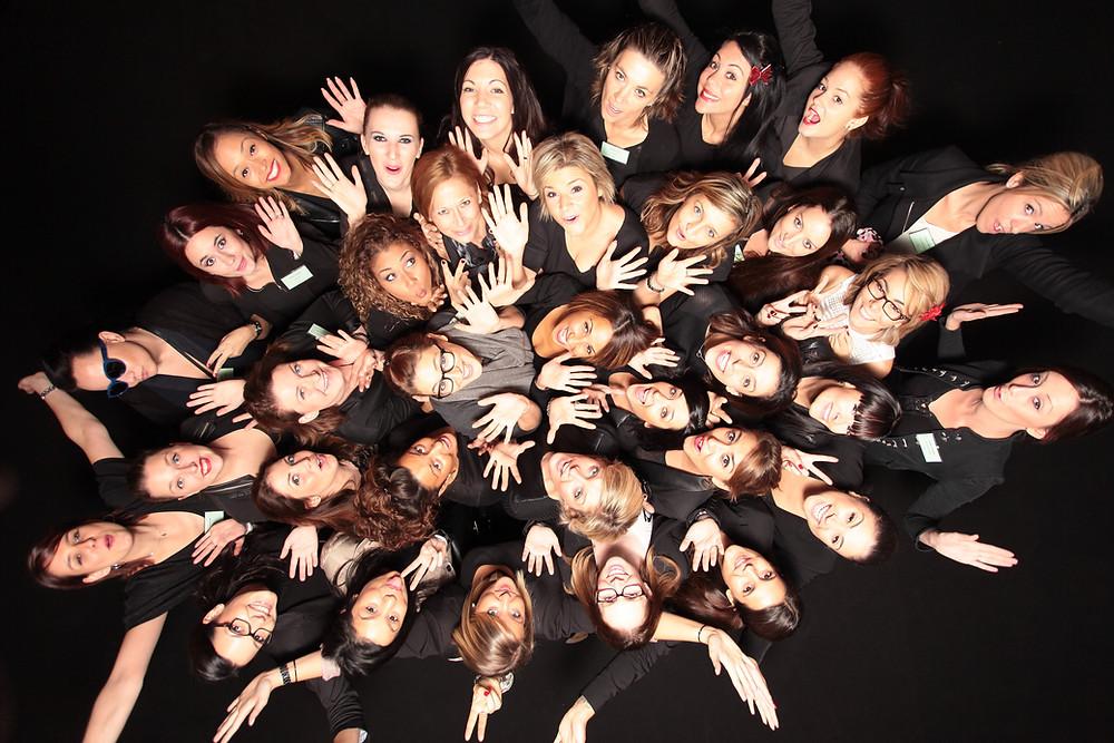 Le studio d'animation photo L'Œil du Plafond. Un fond noir pour le lancement de parfum d'Hugo Boss pour Procter & Gamble.