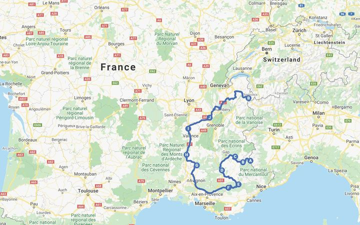 campervan route france