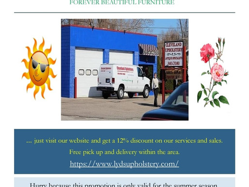 Cleveland Upholstery invites you to the best summer deals. Find out by yourself...