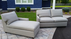 Chaise Loung and Loveseat