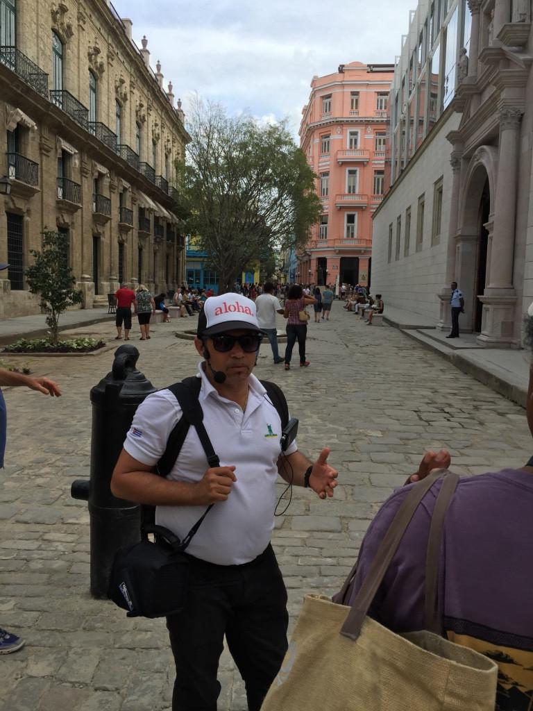 Jesus Garcia guiding us through Old Havana