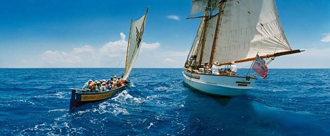 Gli Gli and escort schooner - Photo Credit: McDuff Everton