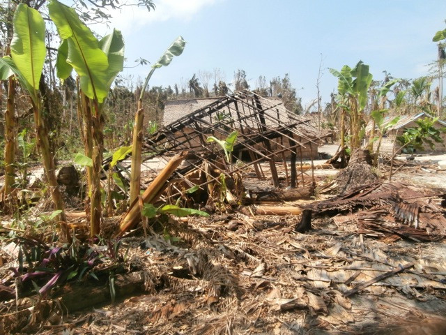Kahula Village after the Cyclone