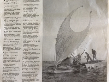 Holau Vanuatu featured in The Island Sun