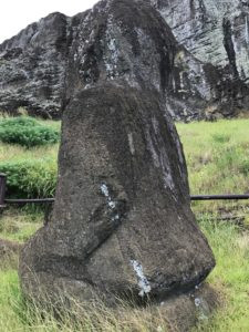 The only kneeling Moai we saw