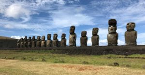 15 Moai resurrected at Ahu Tongariki