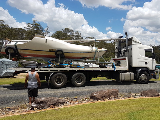 SW24 that Wade Fairley is restoring for Moana voyage and donation to Vaka Valo Association