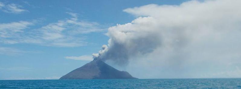 Tinakula eruption - October 2017. Credit: Okano Gamara