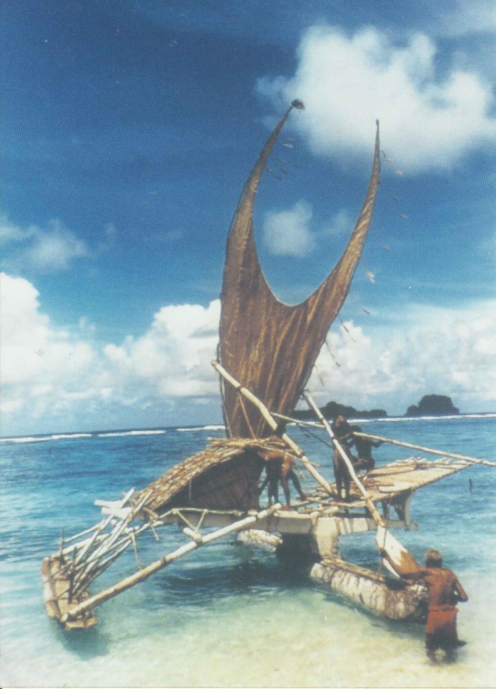 Kaveia teaching how to rig Te Puke 2002