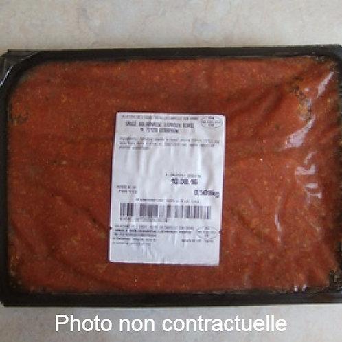 Barquette de sauce Bolognaise
