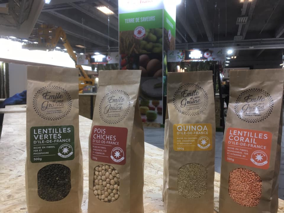 Lentilles vertes, Pois Chiches, Quinoa, Lentilles Corail made in Île de France