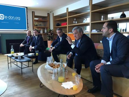Rencontre avec A. Tajani, Président du Parlement Européen