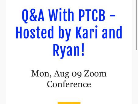 PTCB Q&A Monday!! Reserve your spot!