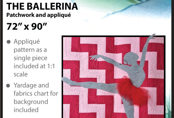 The ballerina - patchwork and appliqué (English)