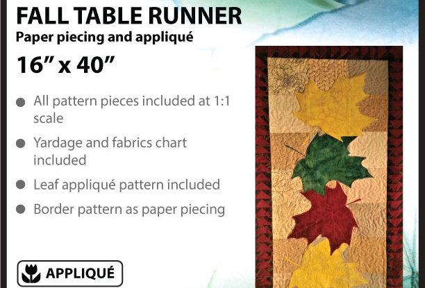 Fall table runner (English)