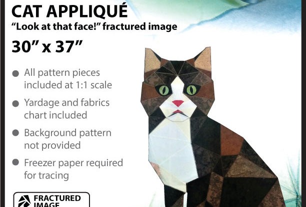 """Look at this face"" Cat Fractured image (English)"