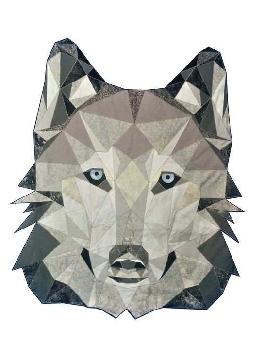 Wolf fractured image applique