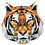 Thumbnail: Theodore the Tiger - Fractured Image Applique (English)