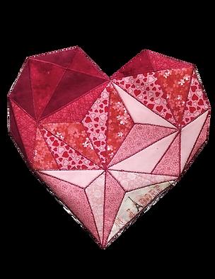 Heart fractured image applique