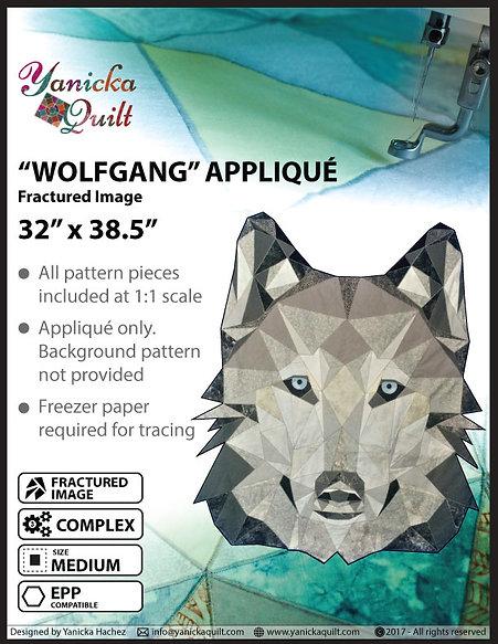 """""""Wolfgang"""" MEDIUM Factured Image Appliqué (English)"""
