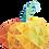 Thumbnail: Pumpkin appliqué - Fractured image (English)