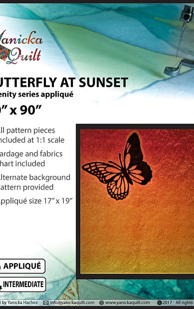 Butterfly in sunset - Serenity series (English)