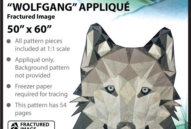 """""""Wolfgang"""" GIANT Fractured Image Appliqué (English)"""