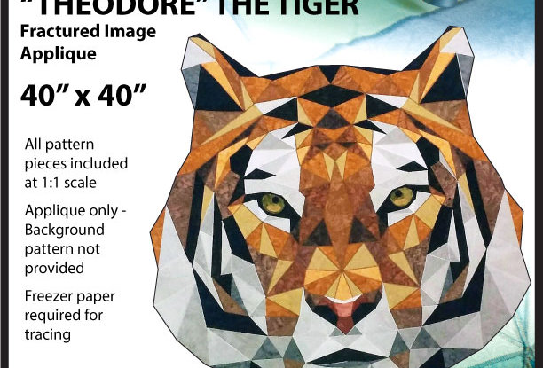 Theodore the Tiger - Fractured Image Applique (English)