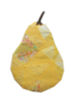 Pear fractured image applique
