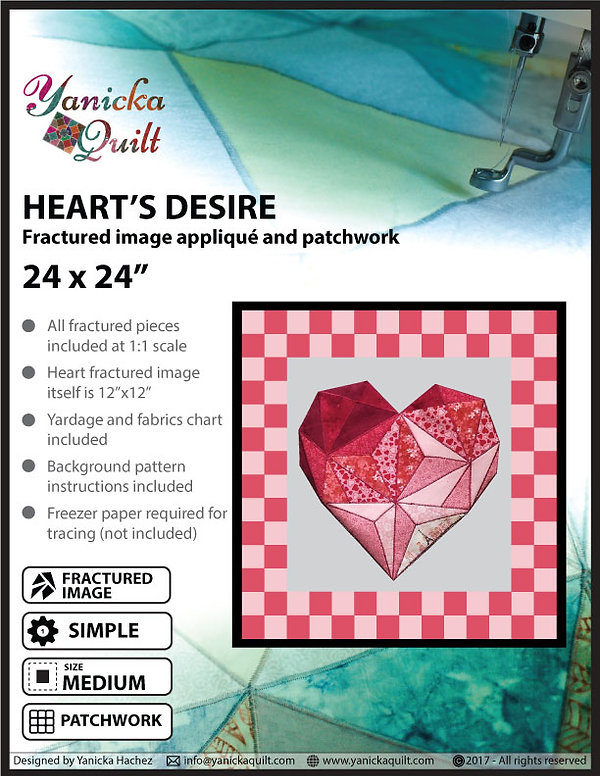 Heart's desire fractured image pattern
