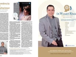 Dr. Wendell Ribeiro publica matéria sobre Doença de Alzheimer na Revista Saúde
