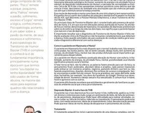 Dr. Wendell Ribeiro publica sobre Transtorno Bipolar para Revista Saúde