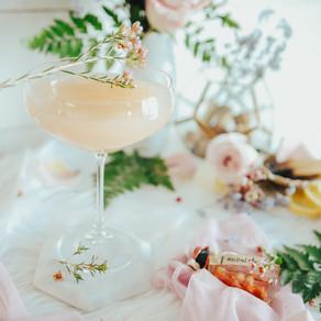 lavender lemon rosé cbd cocktail