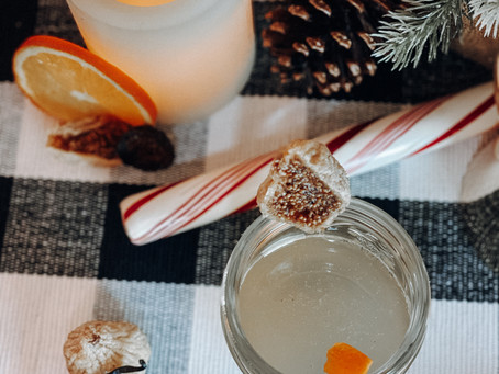 fig, vanilla bean & gin cocktail