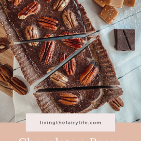 chocolate & pecan gluten-free tart