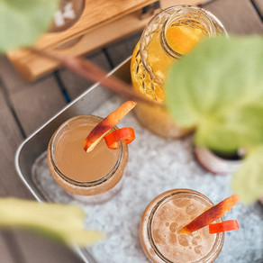peppers & peaches cocktail
