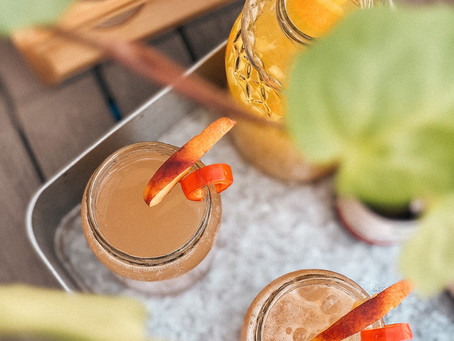 spicy peach cocktail with vodka
