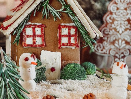 charcuterie gingerbread house