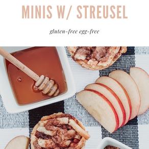 honey apple pie minis w/ streusel (gf/ef)