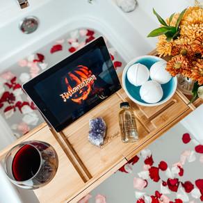 how to create the perfect self-care fall cbd bath
