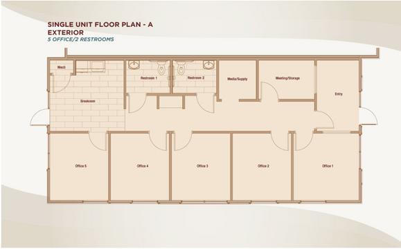 Single Unit Floor Plan A -Exterior