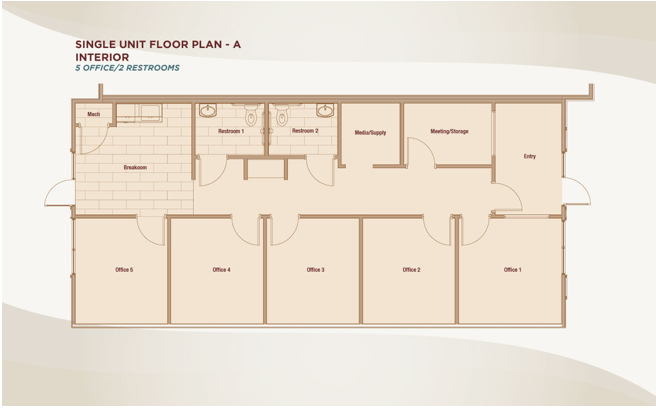 Single Unit Floor Plan A- Interior