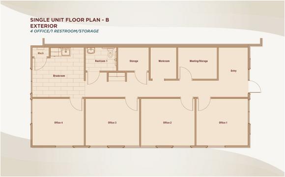 Single Unit Floor Plan B -Exterior