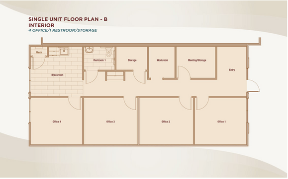 Single Unit Floor PlanB -Interior