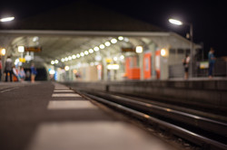 Berlin Trains Station at Night