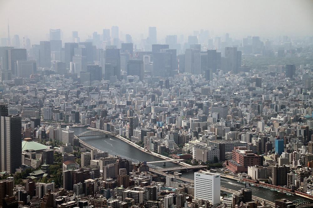 landscape of Kuramae and Asakusabashi