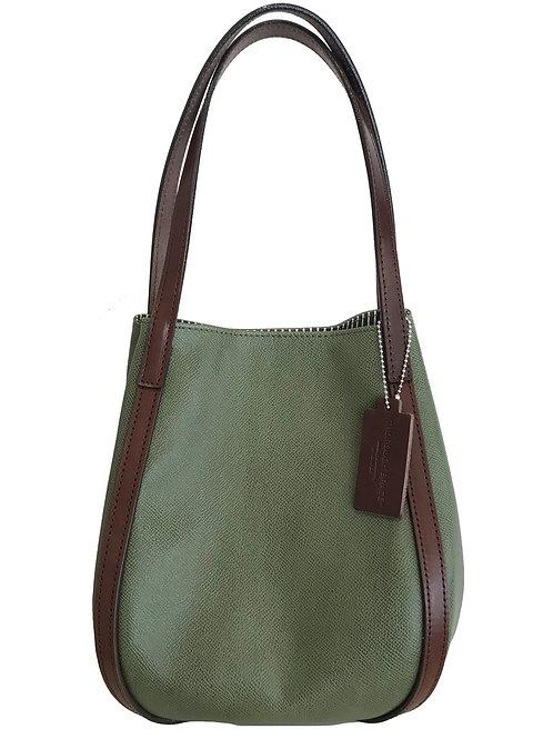 BUCKET (L) Embossed Green x Brown